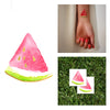 Gold Pink Watermelon slice summertime Flash Temporary Tattoo