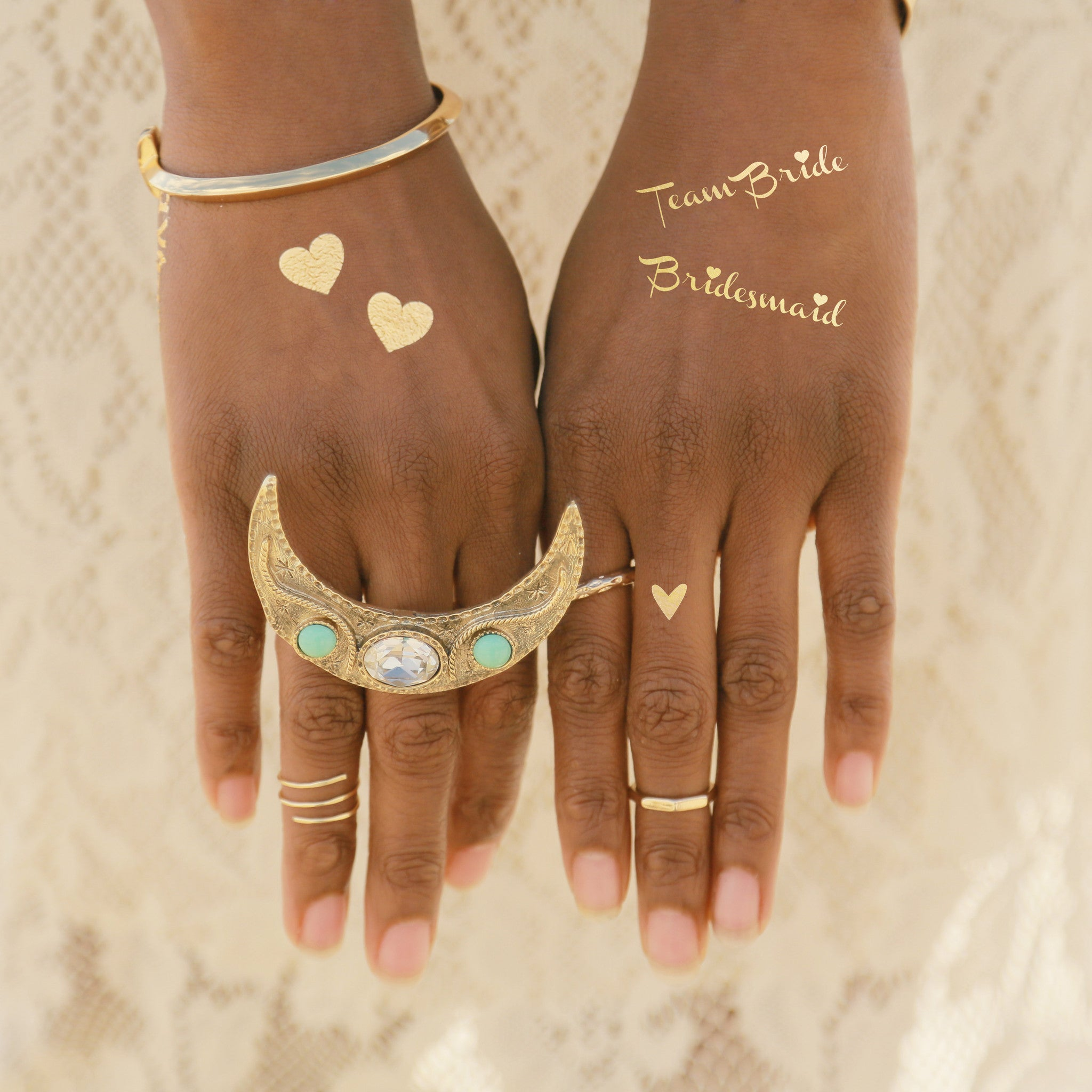 Gold Tattoo Ink: Create Your Own Wedding Flash Tattoo!