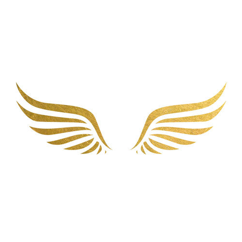 greek wings gold metallic temporary flash tattoo gold ink tattoo