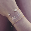 Wings Gold Metallic Flash Greek Temporary Tattoo
