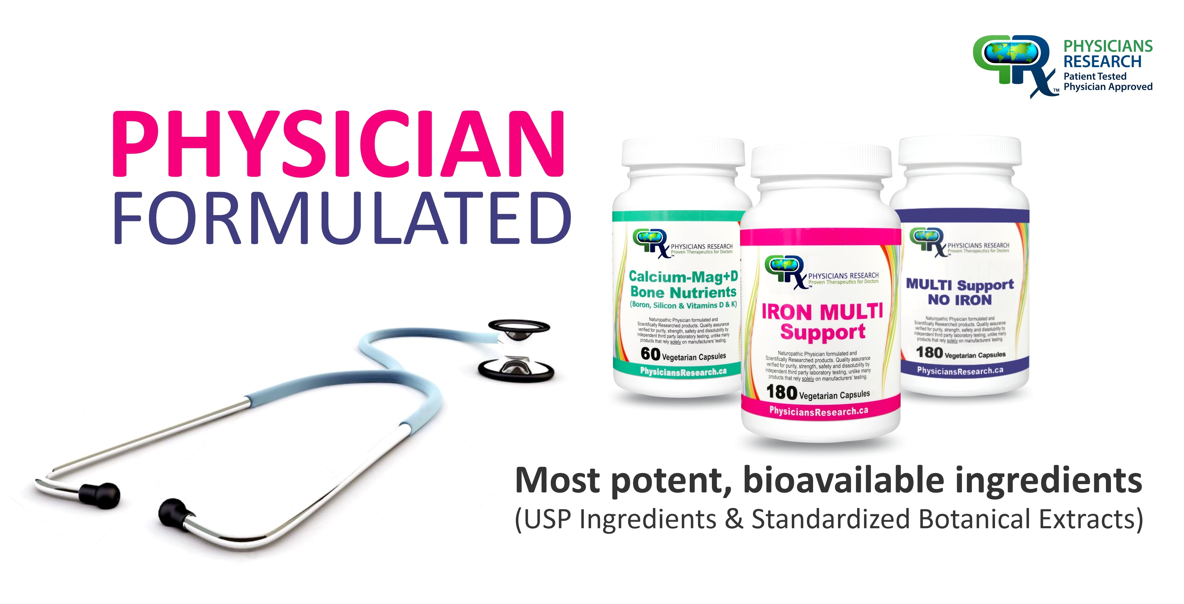 Physician Formulated, Most Potent, Bioavailable Ingredients (USP, Standardized Extracts)