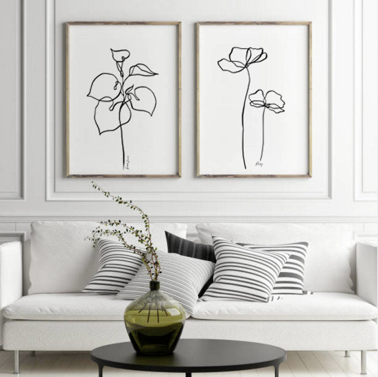 Botanical - set of 3