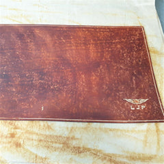 Sparrowhawk Leather logbook cover hand rubbed leather dyeing technque 3rd application