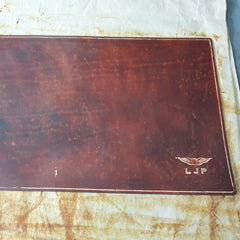4th hand rubbed dyeing application Sparrowhawk Leather handmade in NZ Pilot Logbook covers
