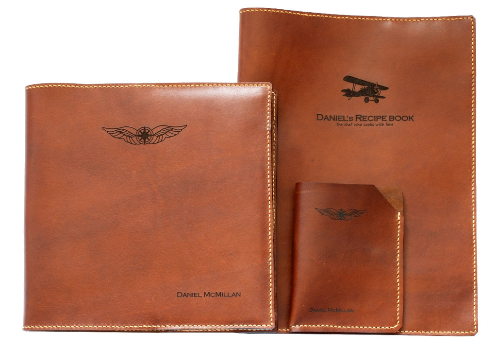 Sparrowhawk Leather NZ whisky aniline leather goods with personalised laser engraving