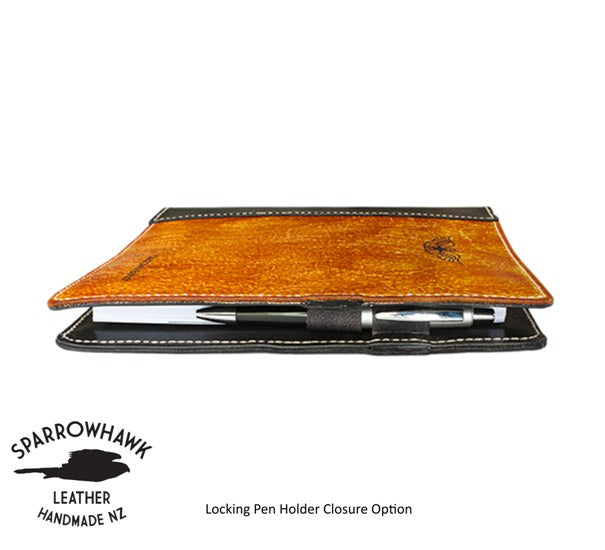 Pilot Logbook Cover Leather Custom Made Wings Amp Name Engraved Sparrowhawk Leather Nz