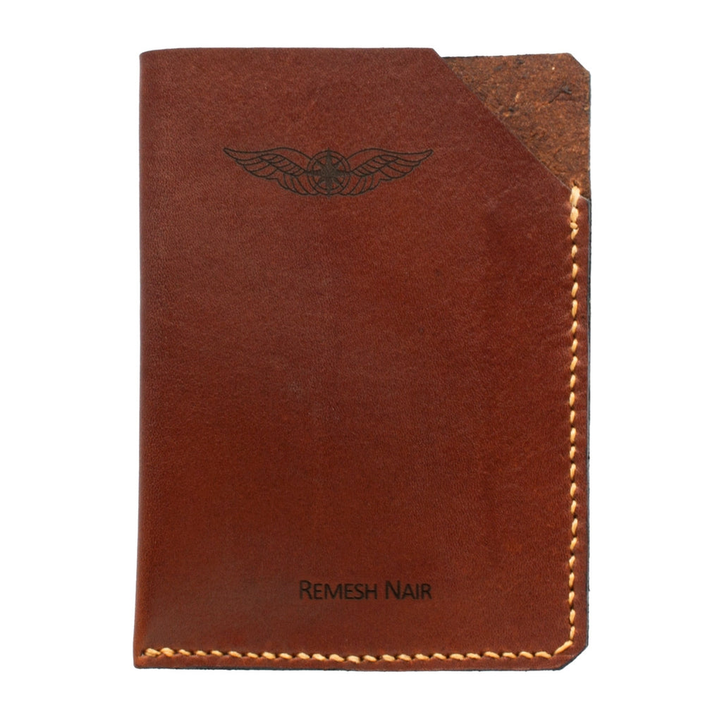 100 Leather Pilot Passport Wallet Name Sparrowhawk