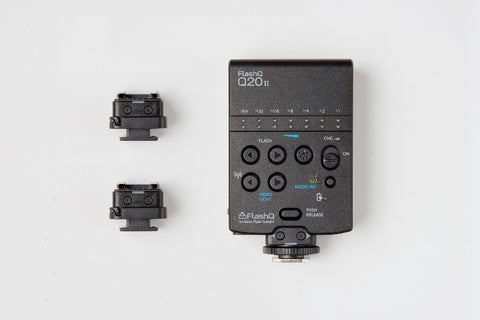 Combo! FlashQ Q20II (BLACK) with 2 FlashQ Receivers (T2, BLACK)