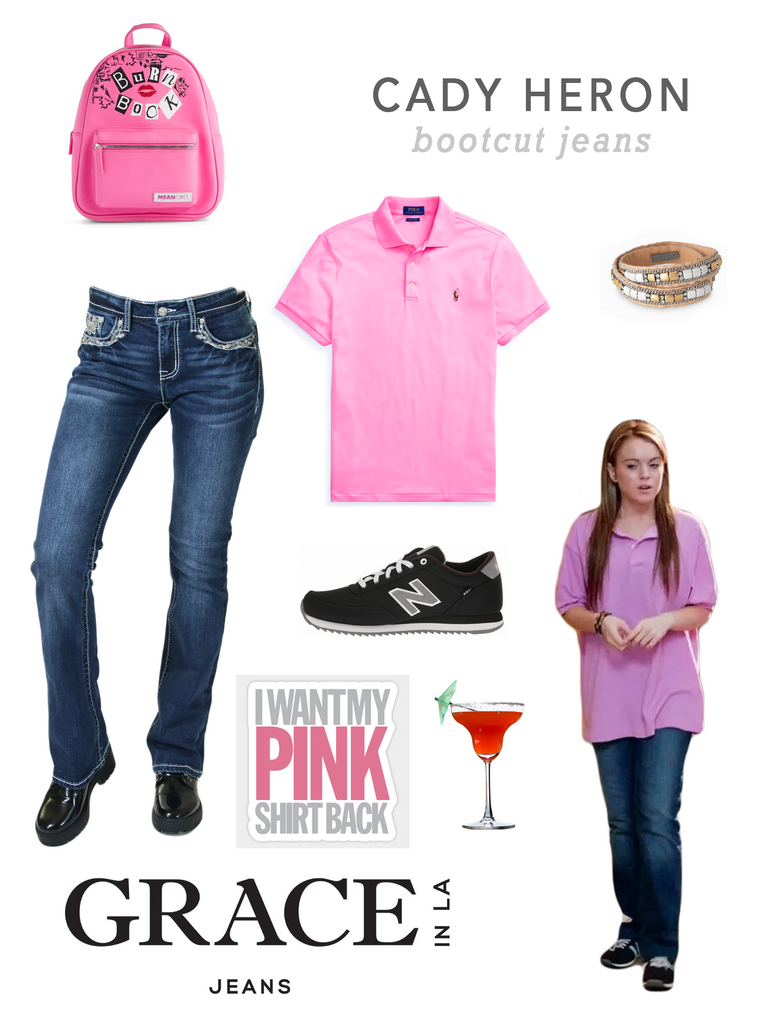 Grace in LA Mean Girls Cady Heron Costume in Bootcut Denim Jeans
