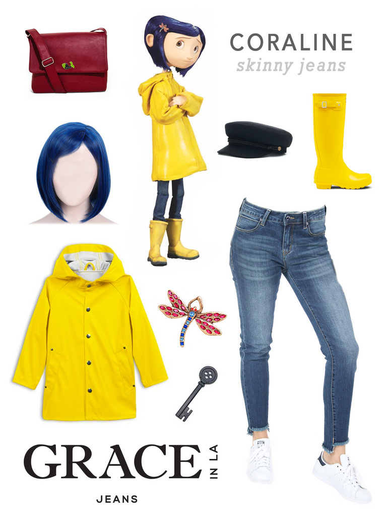 Grace in LA Coraline Costume in Skinny Denim Jeans