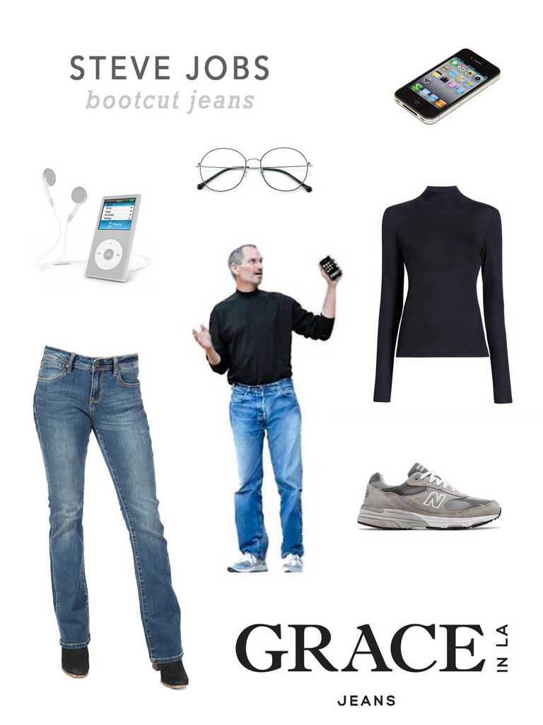 Grace in LA Steve Jobs Costume in Bootcut Denim Jeans