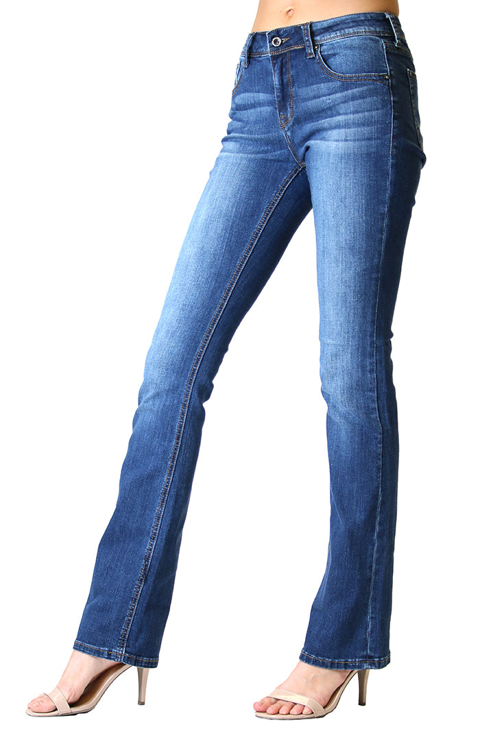 Classic Medium-Wash Easy Bootcut Jeans | EB-51337