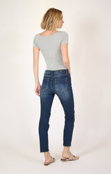 Medium-Wash Girlfriend Jeans | JGF-9233-dk