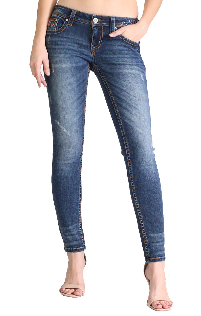 Medium Wash Skinny Jeans | JNW-2229