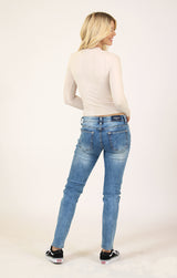 Distressed Light Wash Skinny Jeans | JNW-51508