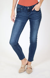 Distressed Sparkled Side Stripe Junior Skinny Jeans | JNW-71186