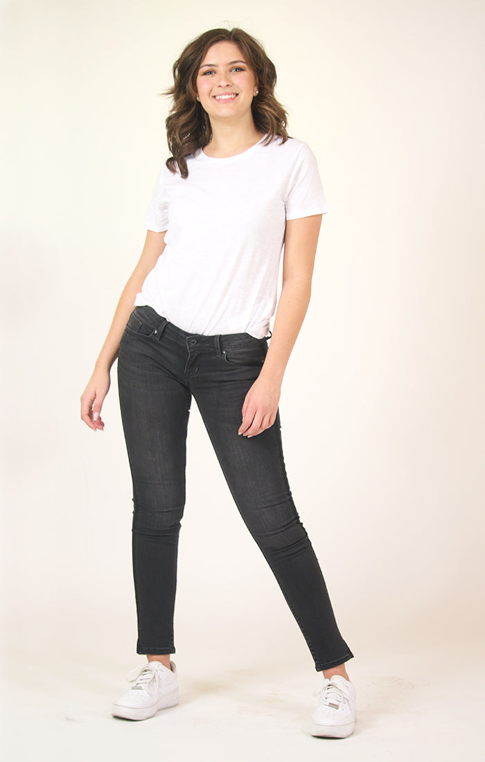 Black Side Stripe Skinny Jeans | JNW-9284-BLK