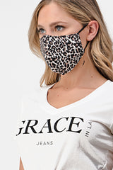 Leopard Print Reusable Cloth Face Mask | MASK-K6