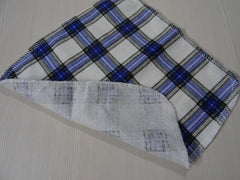 1 PC FLANNEL single layer reusable wipe - BLUE PLAID