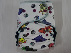 new cut FLUFFY - POKEMON Handmade fitted diaper One size fits 5-15+ kg, fleece lining