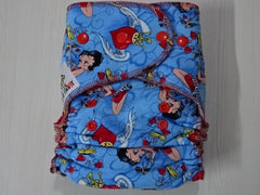 new cut FLUFFY - BETTY Handmade fitted diaper One size fits 5-15+ kg, fleece lining