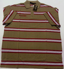 KOOGA GENERIC YARN DYED RUGBY/LEISURE POLO SHIRT-GR/RED/WH