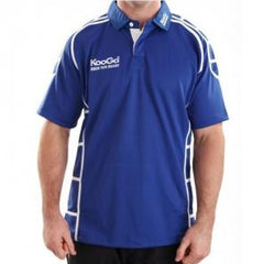 KOOGA PIPED TEAMWEAR MATCH/TRAINING RUGBY SHIRT ROYAL/WHITE