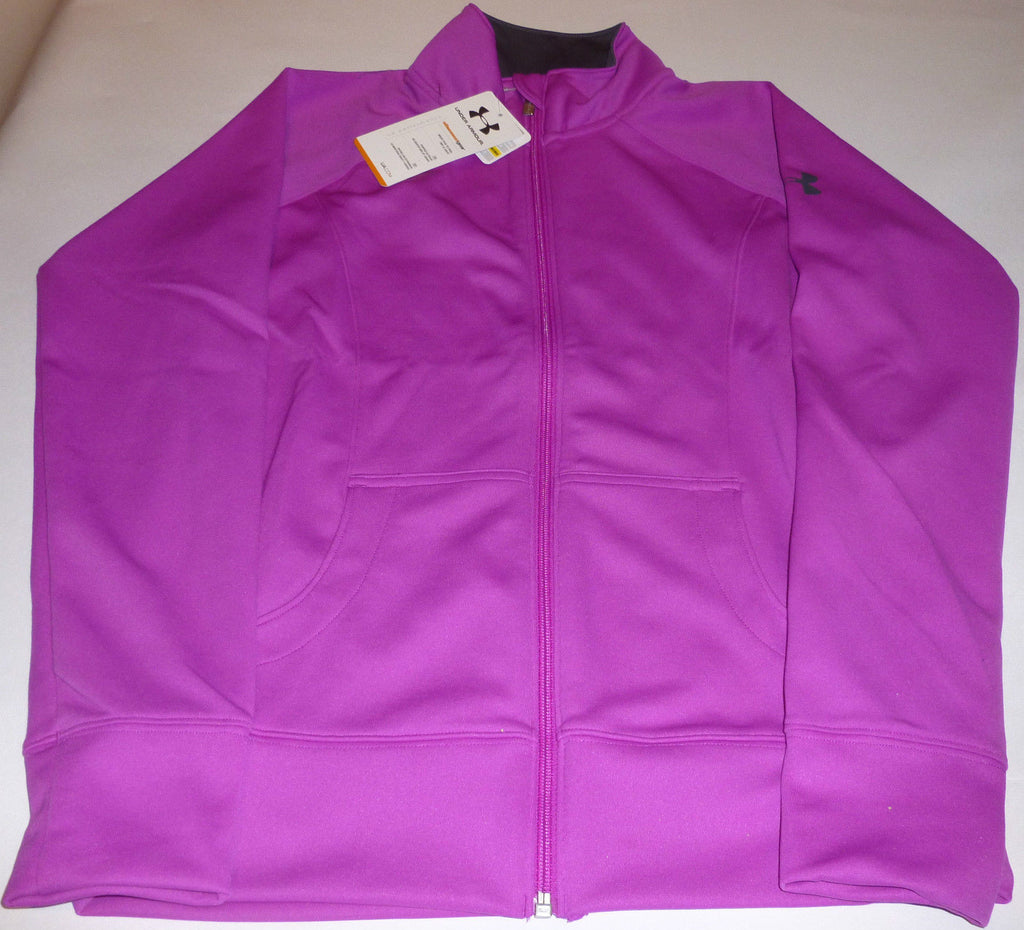 UNDER ARMOUR LADIES WOVEN CRAZE EXERCISE/FITNESS JACKET-CERISE-SMALL-SIZE 10 - CER, L, SMALL