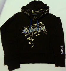 KOOGA OSPREYS LADIES SUPPORTERS SCRIPT RUGBY HOODY-BLACK