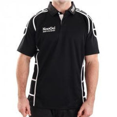 KOOGA JUNIOR PIPED TEAMWEAR MATCH/TRAINING RUGBY SHIRT BLACK/SKY