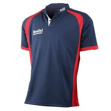 KOOGA JUNIOR  RUGBY PANEL TEAMWEAR MATCH/TRAINING SHIRT-NAVY/RED