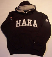 HAKA PITCHSIDE/LEISURE RUGBY HOODY-BLACK