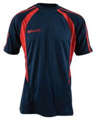 KOOGA PRO TECHNOLOGY TEAMWEAR RUGBY TRAINING/LEISURE TEE NAVY/RED