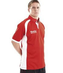 KOOGA JUNIOR  RUGBY PANEL TEAMWEAR MATCH/TRAINING SHIRT-RED/WHITE