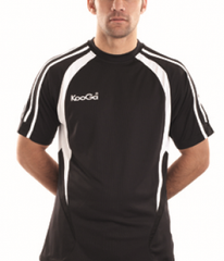 KOOGA  PRO TECHNOLOGY TEAMWEAR RUGBY TRAINING/LEISURE TEE BLACK/WHITE