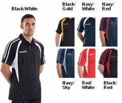 KOOGA  PRO TECHNOLOGY TEAMWEAR RUGBY TRAINING/LEISURE POLO BLACK/GOLD