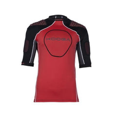 KOOGA JUNIOR IPS BARRICADE RUGBY BODY ARMOUR BLACK/FIREY RED