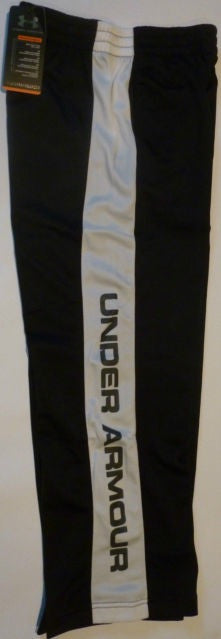UNDER ARMOUR BLACK/WHITE BOYS RUGBY/LEISURE TRAINING PANTS
