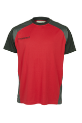 KOOGA MENS TRAINING/OFF FIELD RUGBY POLY PANEL TEE F1 RED