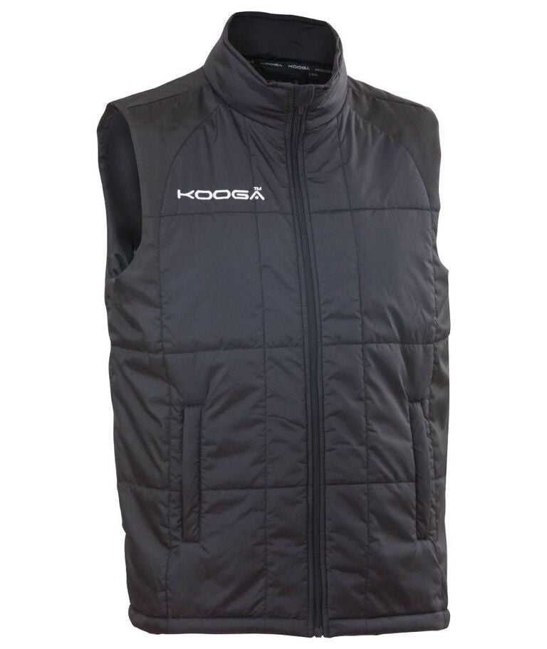 KOOGA MENS ELITE TEAMWEAR OFF FIELD BLACK RUGBY GILLET