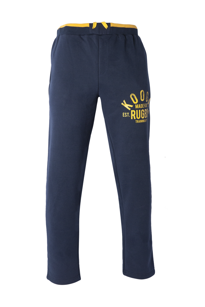 KOOGA MENS TRAINING/OFF FIELD GRAPHIC RUGBY JOGGERS NAVY/YELLOW