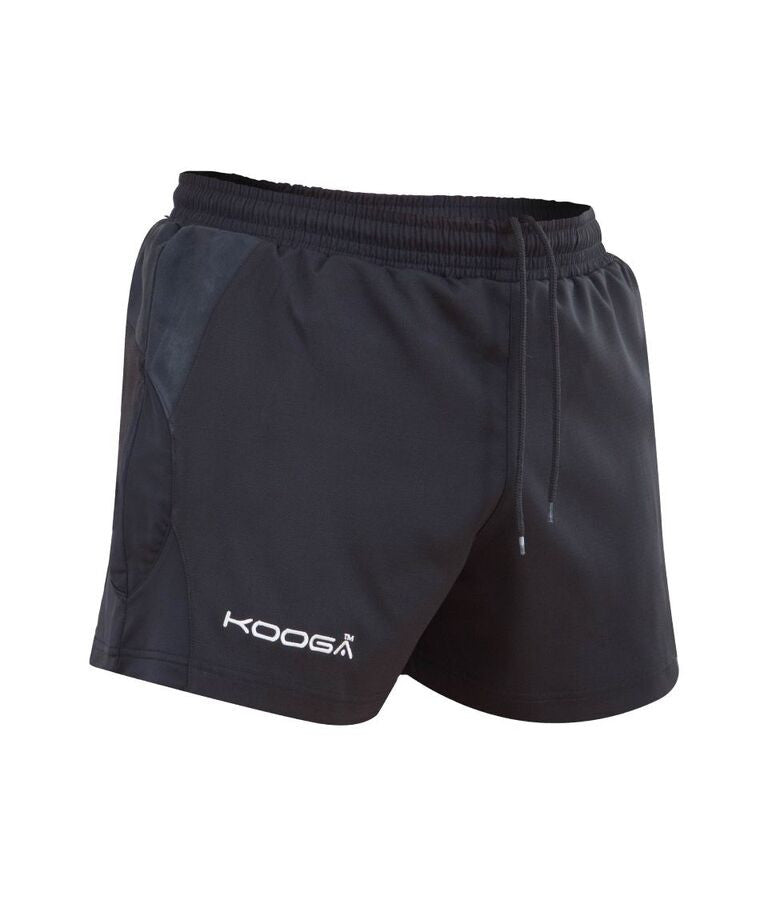 KOOGA MENS ANTIPODEAN II RUGBY PLAYING/TRAINING/LEISURE SHORTS-BLACK