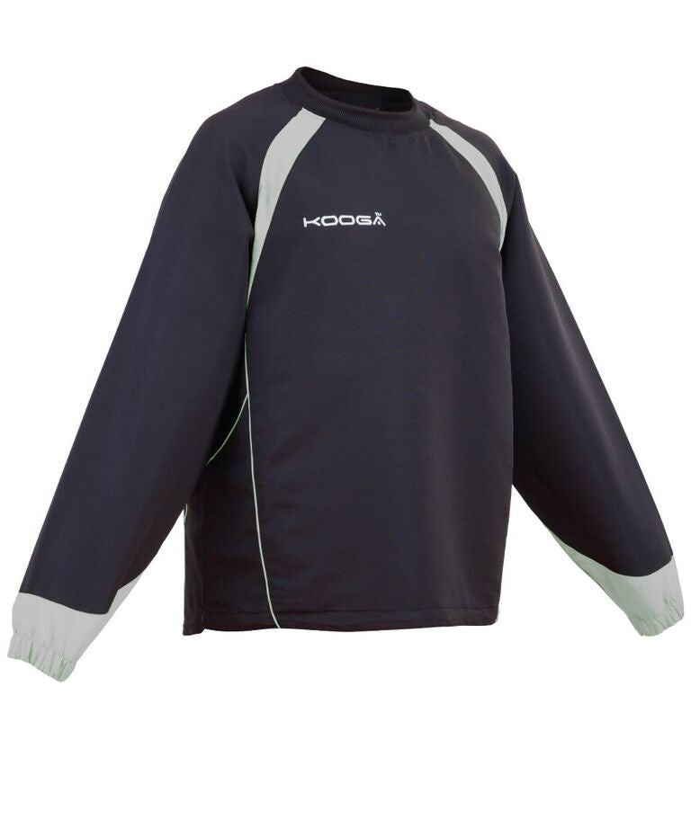 KOOGA JUNIOR RUGBY TEAMWEAR VORTEX II TRAINING TOP BLACK/GREY