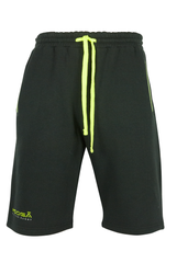 KOOGA MENS TRAINING/OFF FIELD OPEN HEM PIPED RUGBY SHORTS BLACK/VOLT