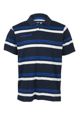 KOOGA YARN DYED MENS TEAMWEAR/OFF FIELD STRIPE RUGBY POLO NAVY