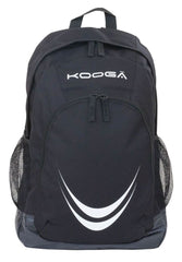 KOOGA ESSENTIALS ADULTS RUGBY BACK PACK BLACK/WHITE