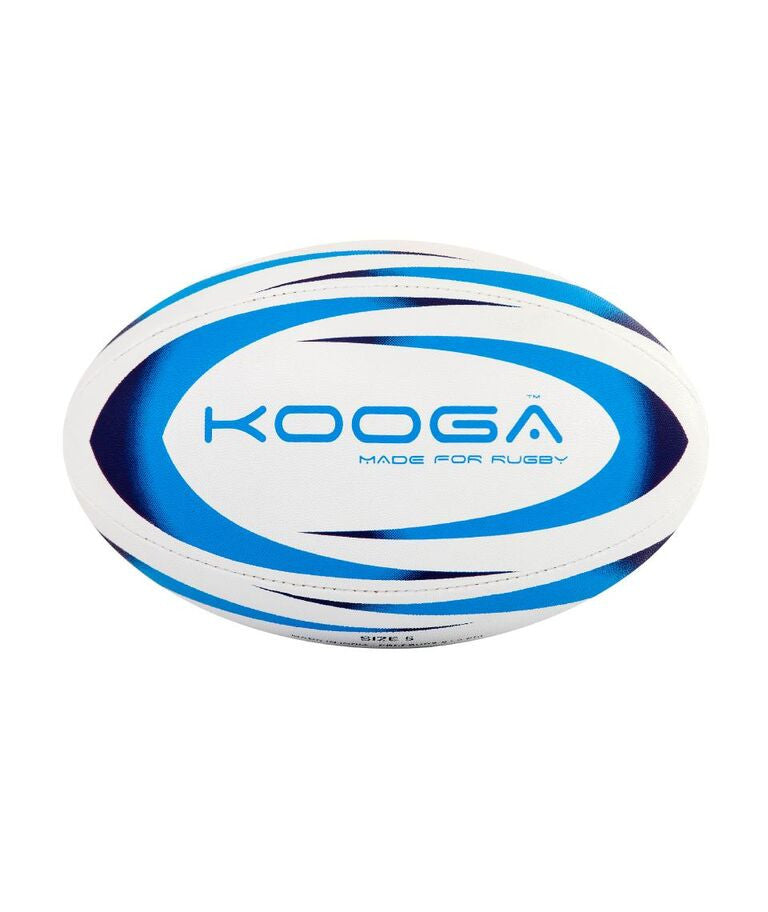 KOOGA DURBAN RUGBY TRAINING BALL WHITE/BLUE SIZE 5