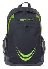 KOOGA ESSENTIALS ADULTS RUGBY BACK PACK BLACK/LIME