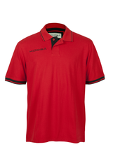 KOOGA CONTRAST CUFF MENS TEAMWEAR/OFF FIELD PIQUE RUGBY POLO F1 RED