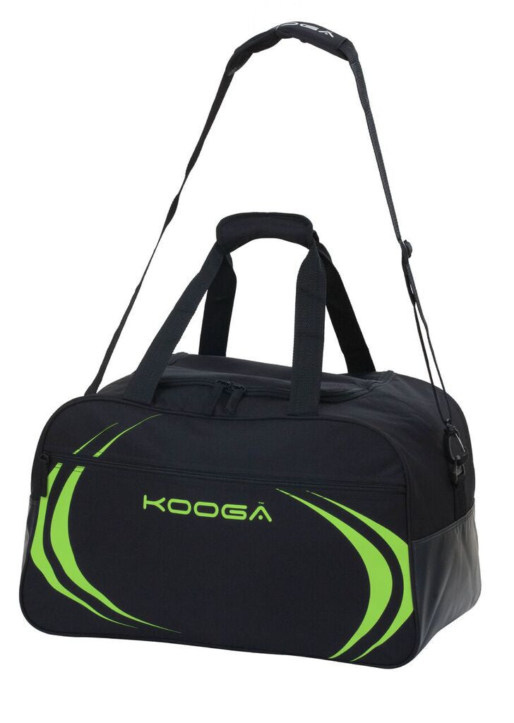 KOOGA ESSENTIALS RUGBY KIT BAG BLACK/LIME